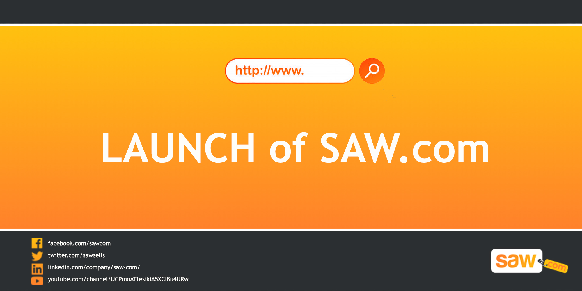 Launch of Domain Brokerage, Saw.com
