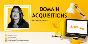 Amanda Waltz, co-founder of Saw.com discusses Domain Acquisitions, by Elliot Silver