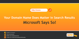 Your Domain Name Does Matter in Search Results – Microsoft Says So!