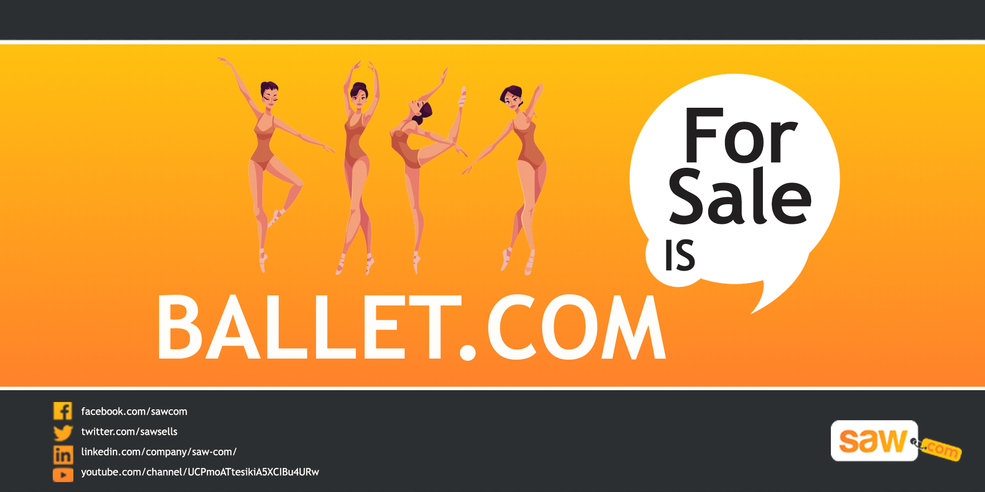 Saw Video – Ballet.com is For Sale!