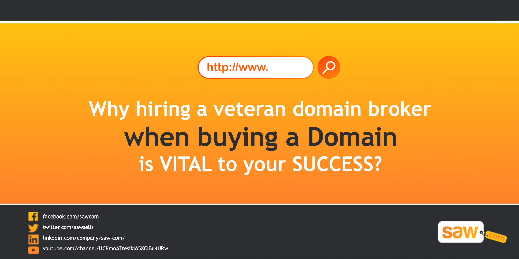 Why hiring a veteran domain broker when buying a domain is vital to your success.