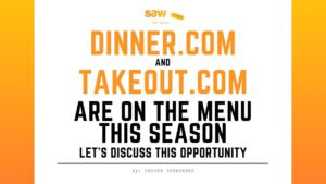 Dinner.com and Takeout.com are on the Menu!