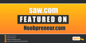 Saw.com Featured on Noobpreneur.com