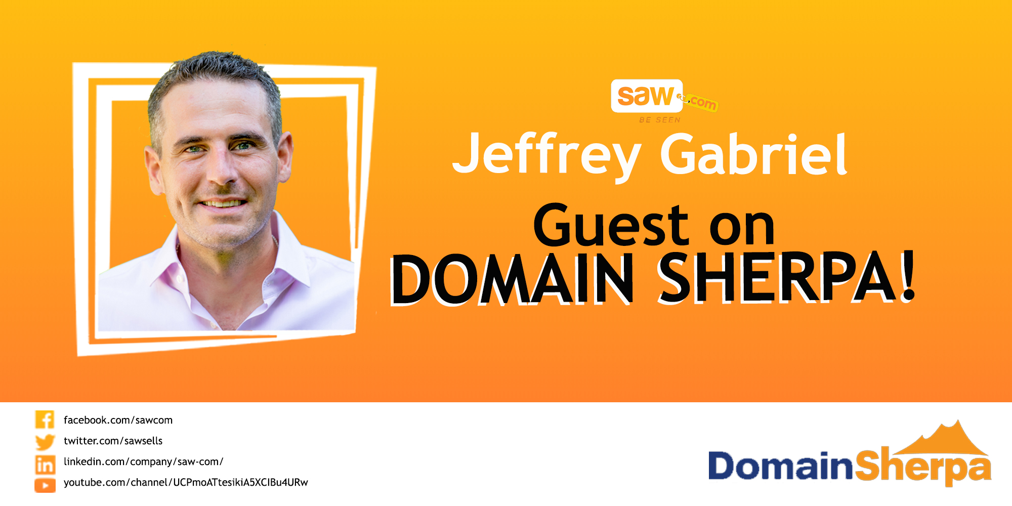 Jeff Gabriel Featured on DomainSherpa Review – November 9